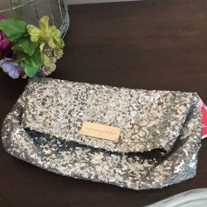 NWT Victoria's Secret Sequined Clutch